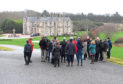 Councillors and the public at the Menie Estate to view the site of the planned development