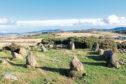 The stone circle was found near Leochel-Cushnie