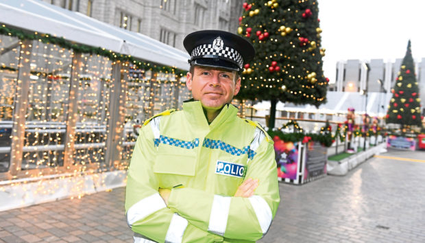 Sergeant Gavin Jardine has advice for Christmas revellers in Aberdeen