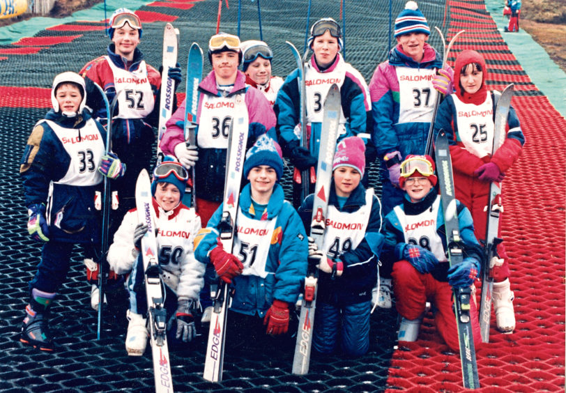 1992: No snow's no problem for these Grampian competitors who took part in the Special Olympics UK skiing championships at the Lecht yesterday