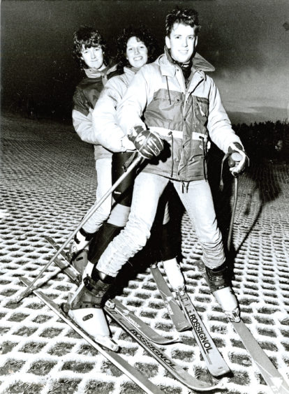 1989: Skiing in tandem is a new craze for youngsters, from left, Scott Beattie, Sally Birt and Craig Ross