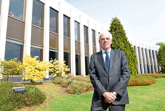 Aberdeenshire Council leader Councillor Jim Gifford outside Woodhill House