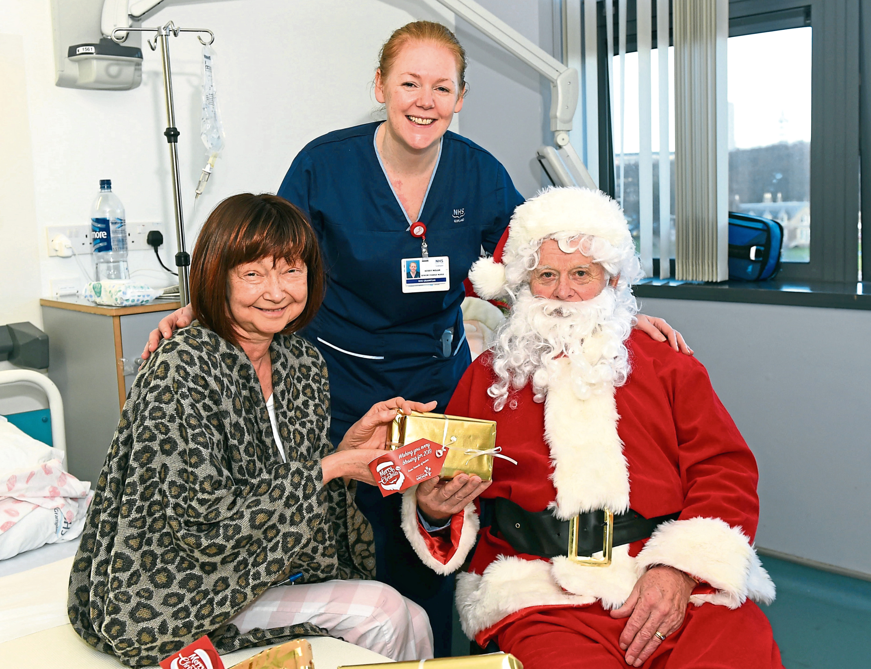 Friends of ANCHOR arranged for Santa to visit their unit in Aberdeen