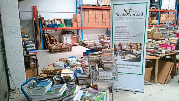 Hundreds of thousands of books have been sent out by the charity, which is based in Rhynie, this year