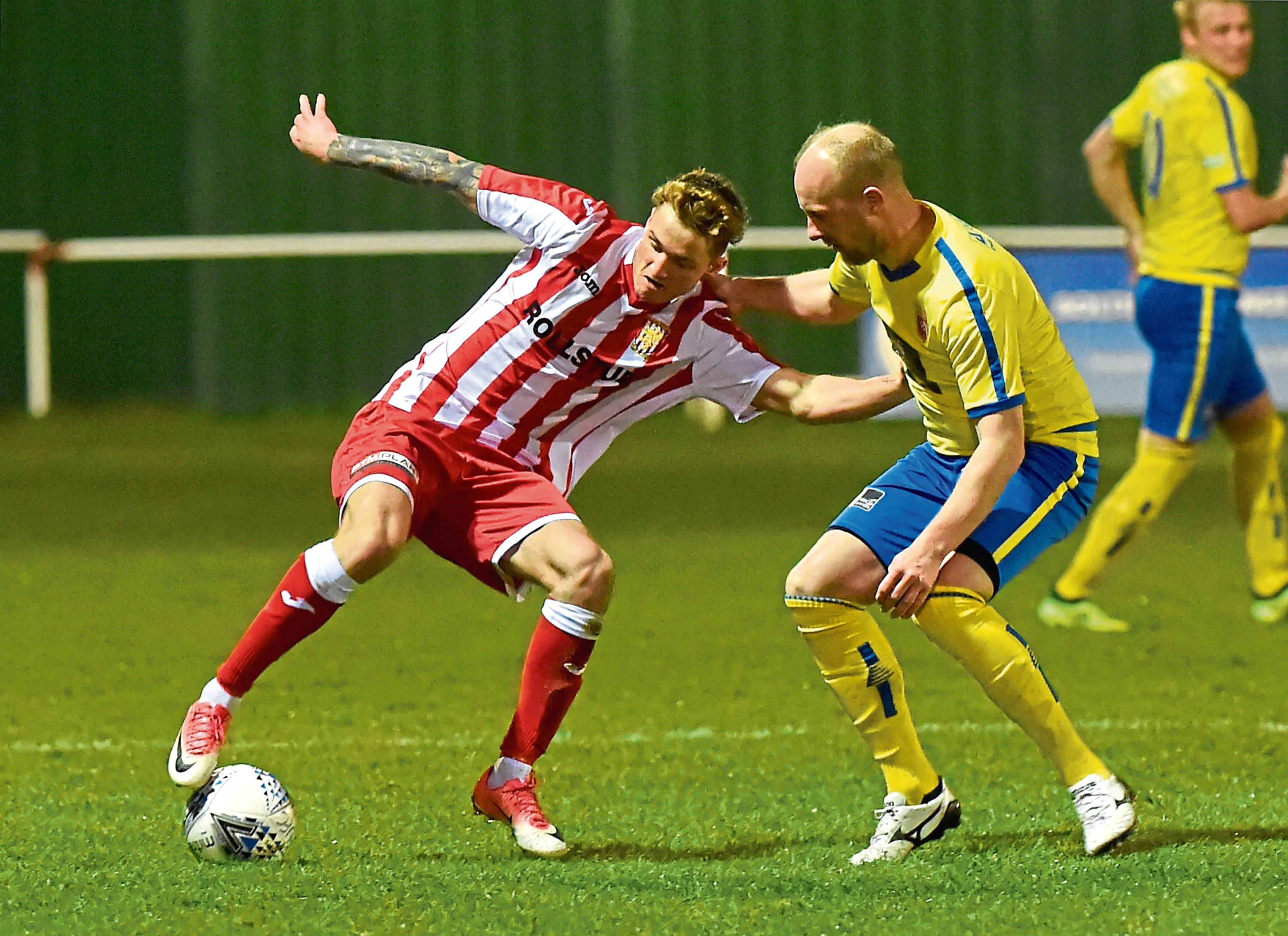 Aaron Norris in action for Formartine.