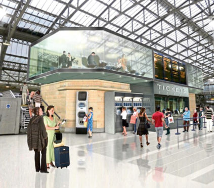 An artist's impression of plans to revamp Aberdeen Railway Station