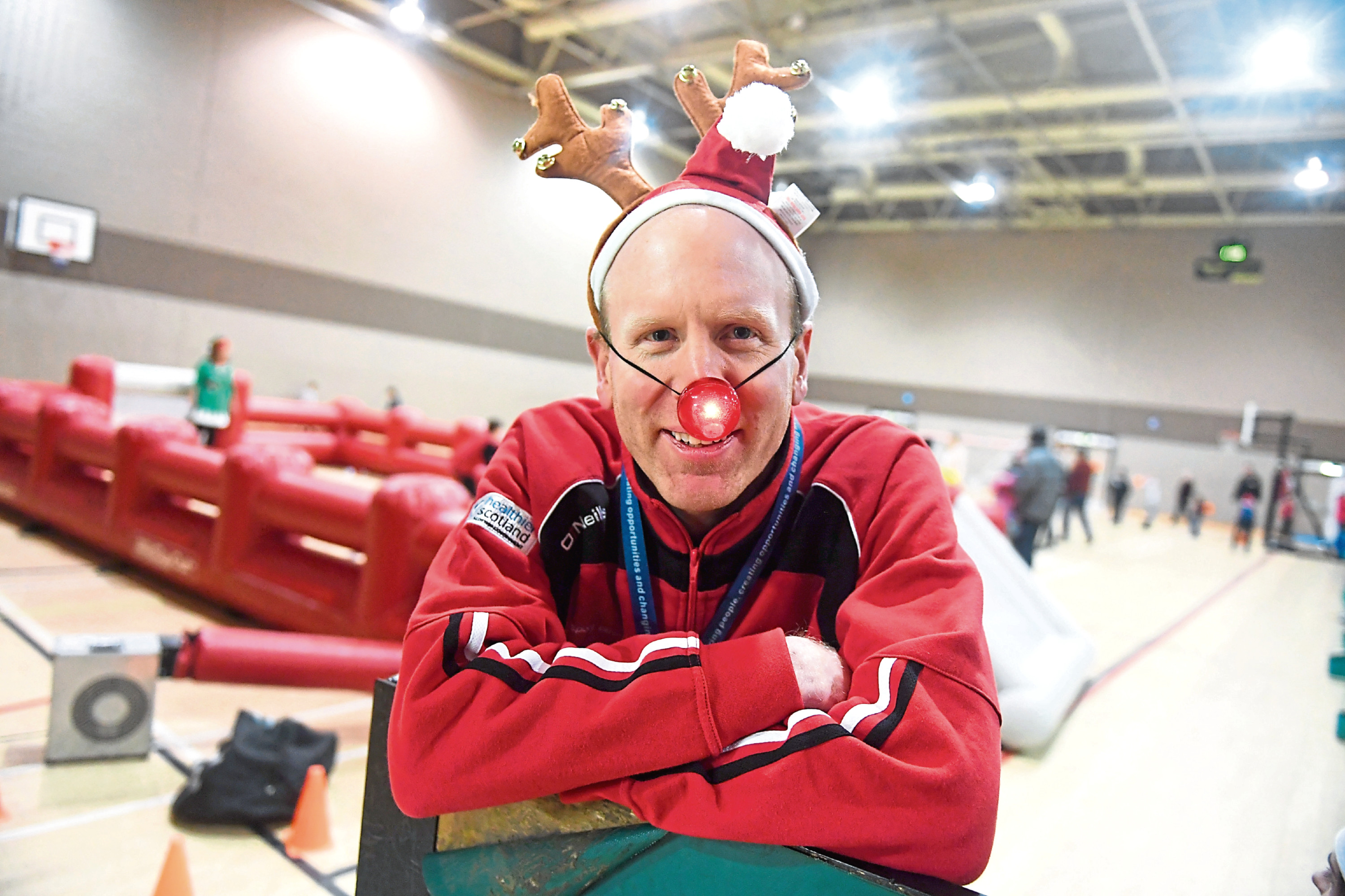 One of the party's organisers Graeme Tale takes a break away from the activities