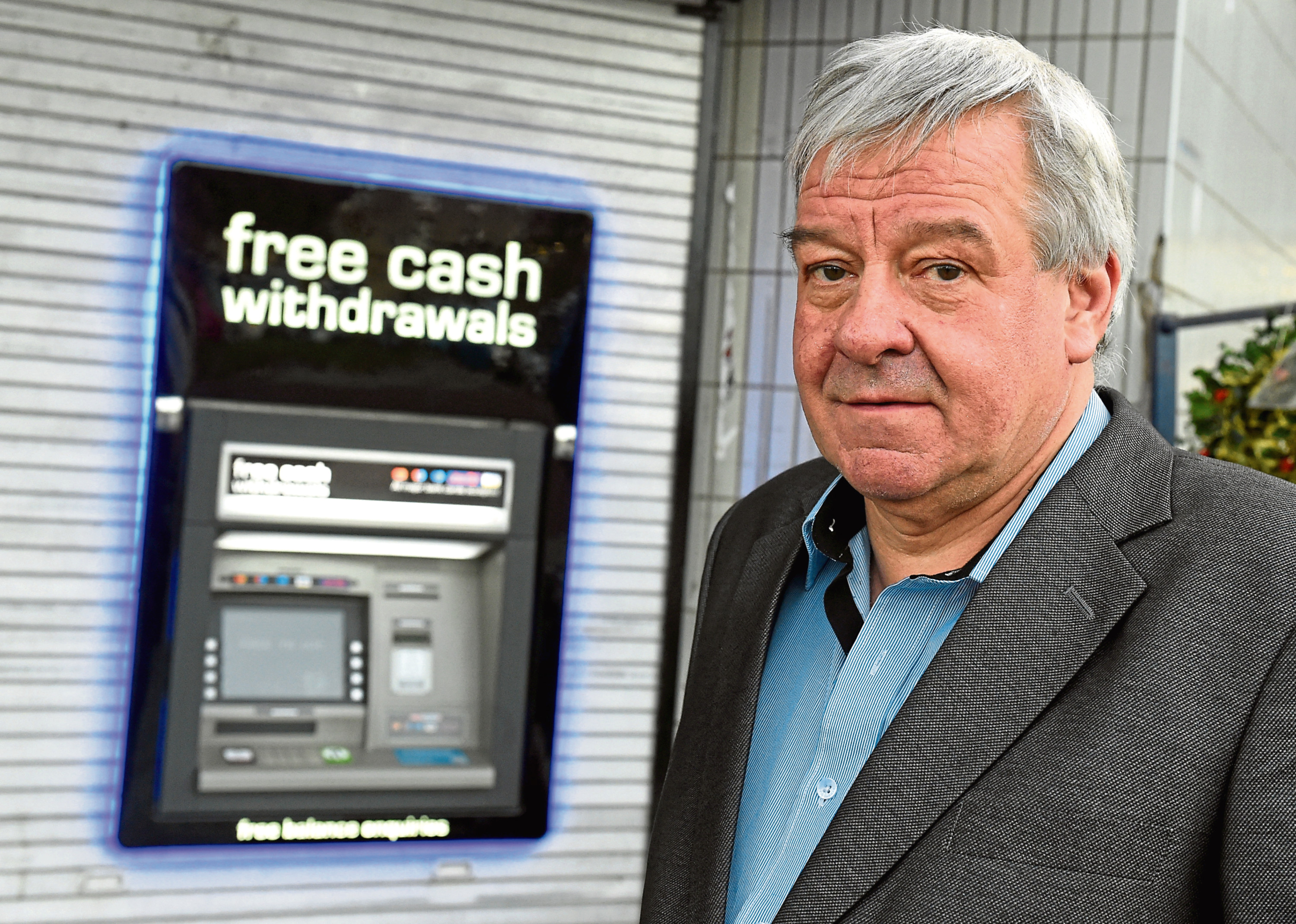 Brian Ogg at the new cash machine