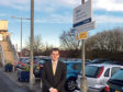 Mark McDonald at Dyce Railway Station