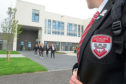 The first pupils at Lochside Academy's new facilities