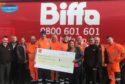 Biffa's donation to Seaton Community Church