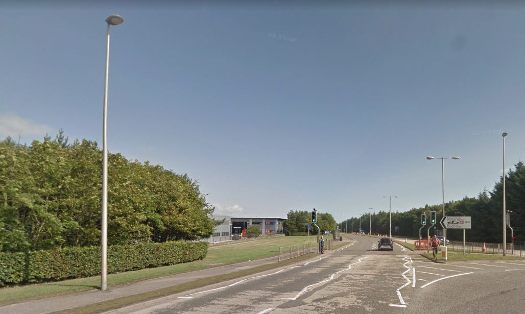 The incident happened on near-side, city-bound carriageway of Wellington Road near the Macro roundabout