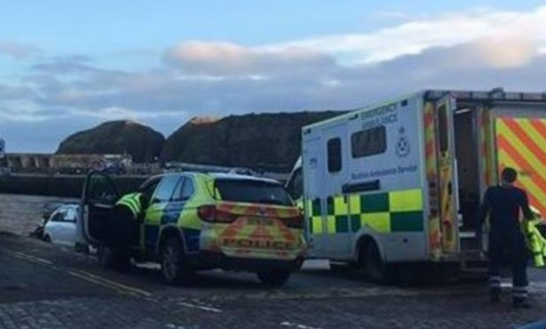 Emergency services at the scene today