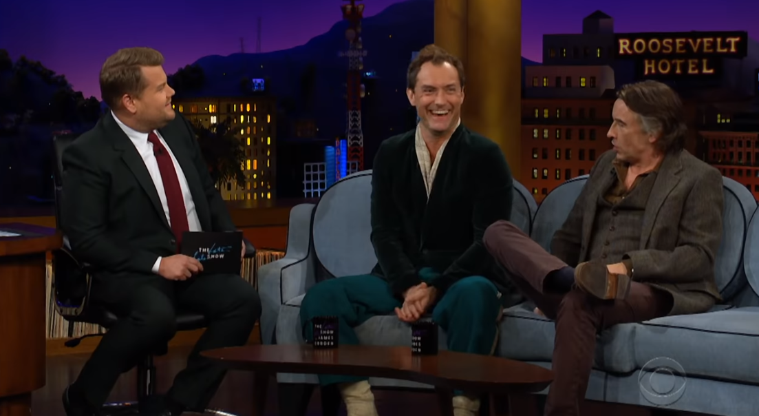 James Corden, Jude Law and Steve Coogan on The Late Late Show