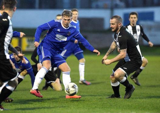 Fraserburgh midfielder Ryan Christie, right.