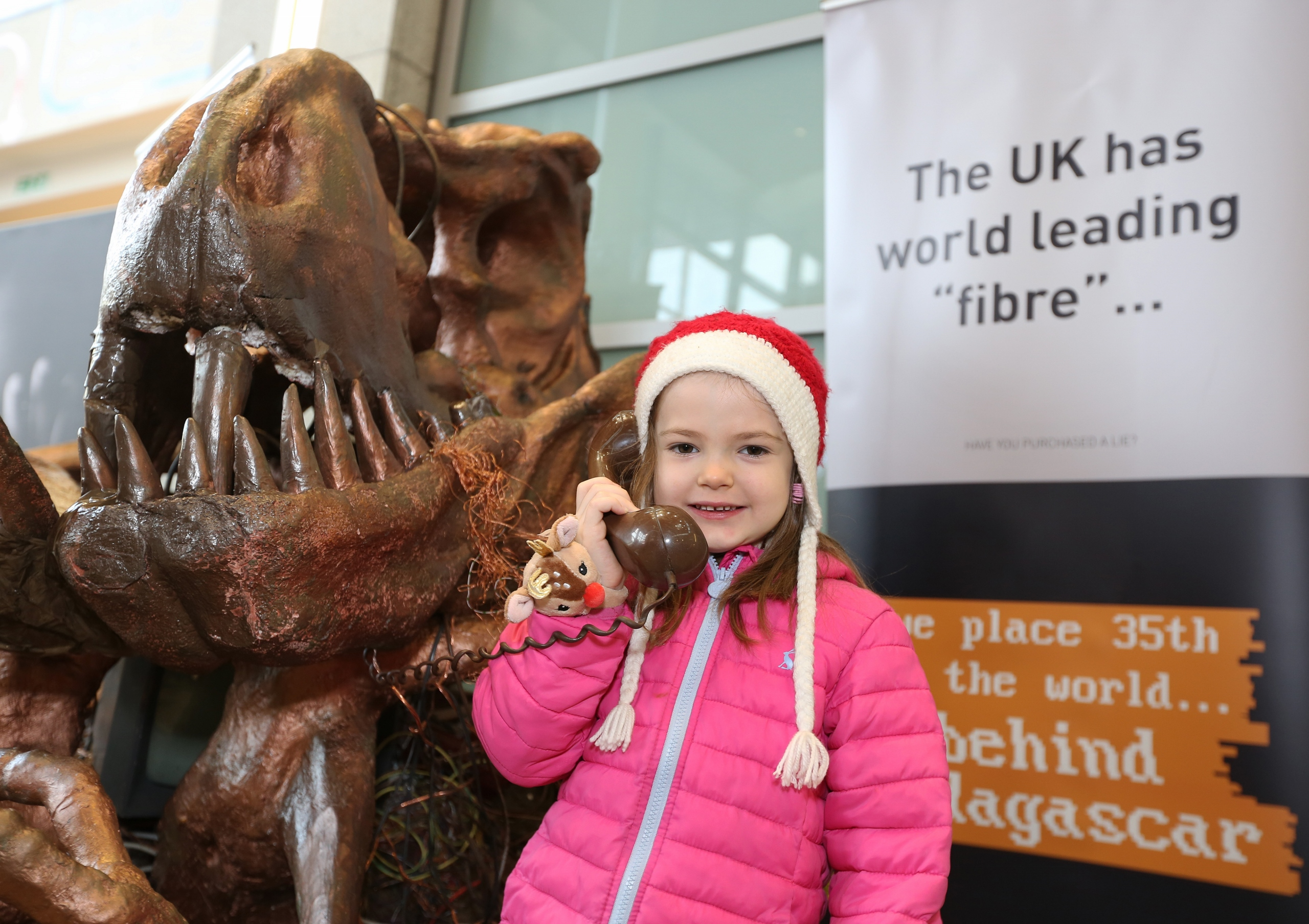 CityFibre Coppersaurus visits Union Square in Aberdeen