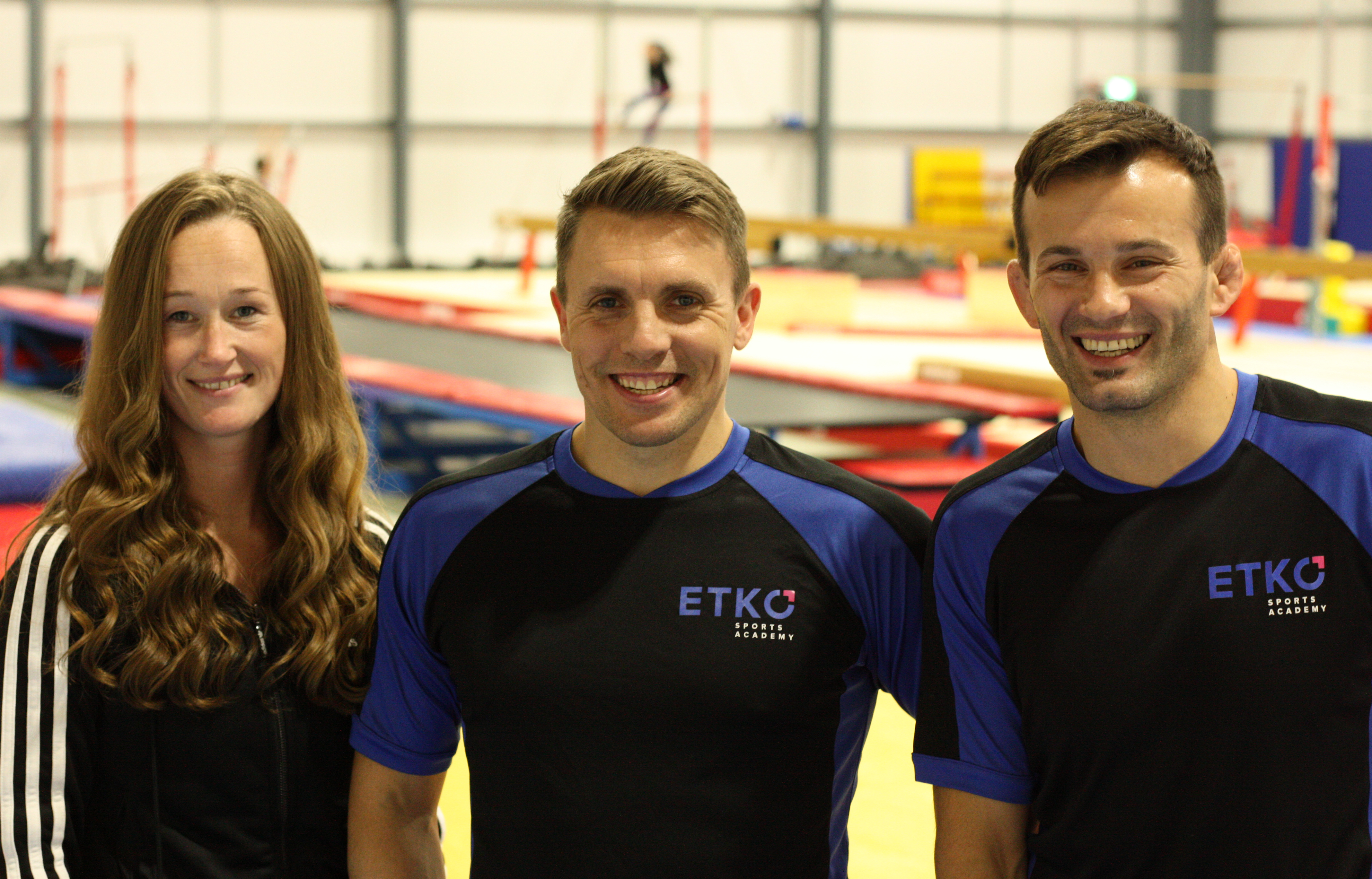 ETKO Sports Academy directors, Laura and Vio Etko with health and safety/development manager, Dan Griffiths
