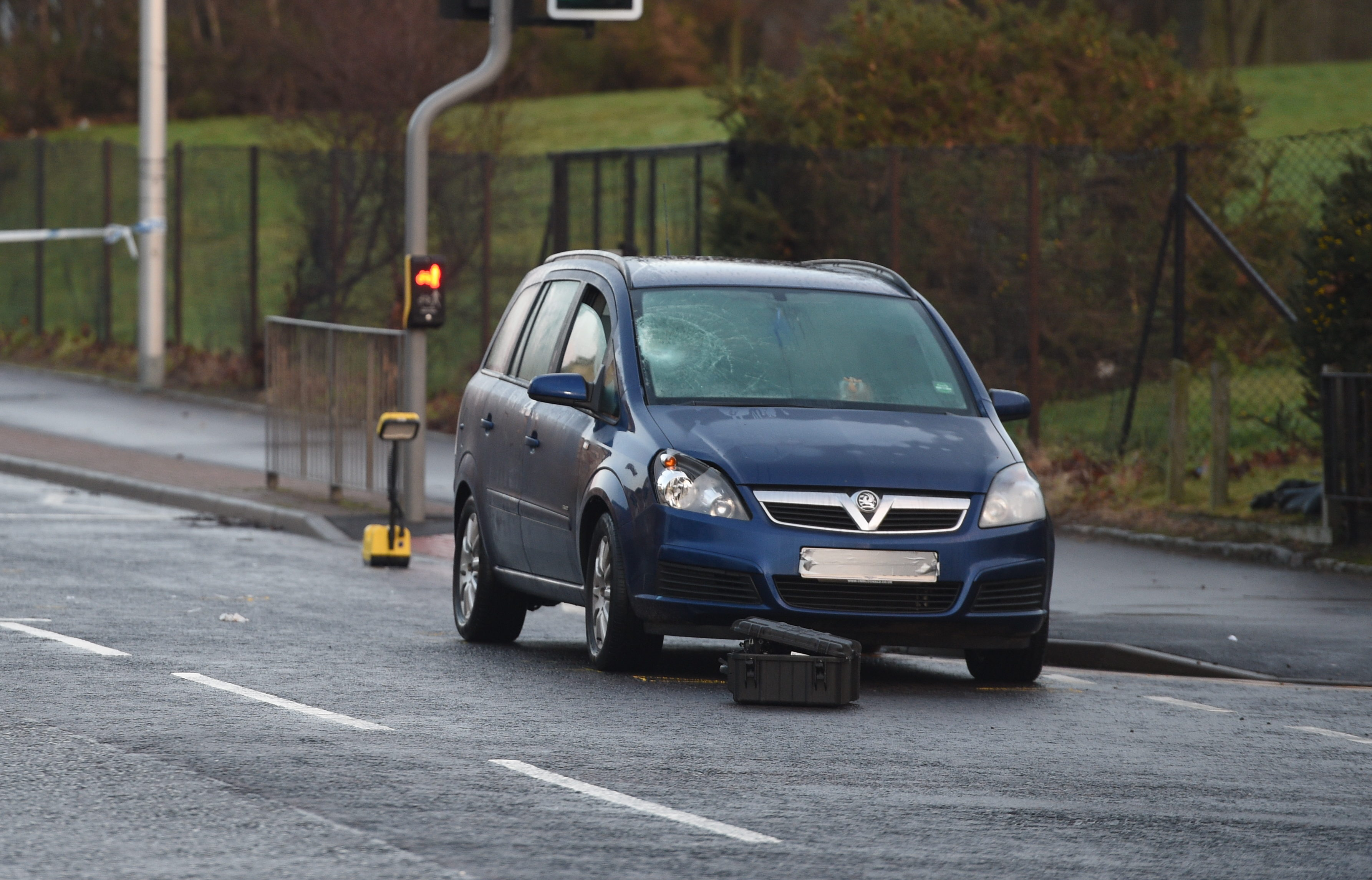 A woman was struck by a car today on Tillydrone Avenue near Aberdeen University's Zooology building