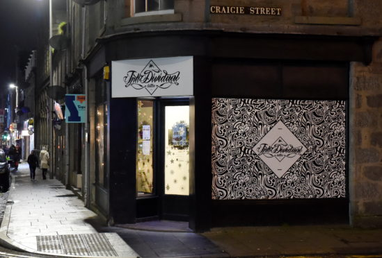 The alleged robbery took place on George Street near Craigie Street in Aberdeen city centre