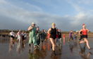 Around 75 people took part in the event at Aberdeen beach