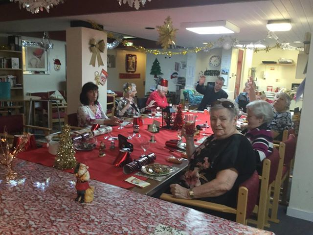 Regensburg Court residents were brought together on Christmas Day for a traditional dinner