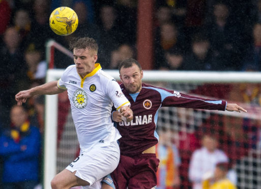 Colin McMenamin, right, has hung up his boots to manage Stenhousemuir full-time.