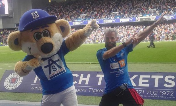 David will run five ultra marathons ahead of the Aberdeen v Rangers at Pittodrie