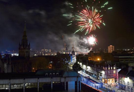 Hogmanay celebrations in Aberdeen last year