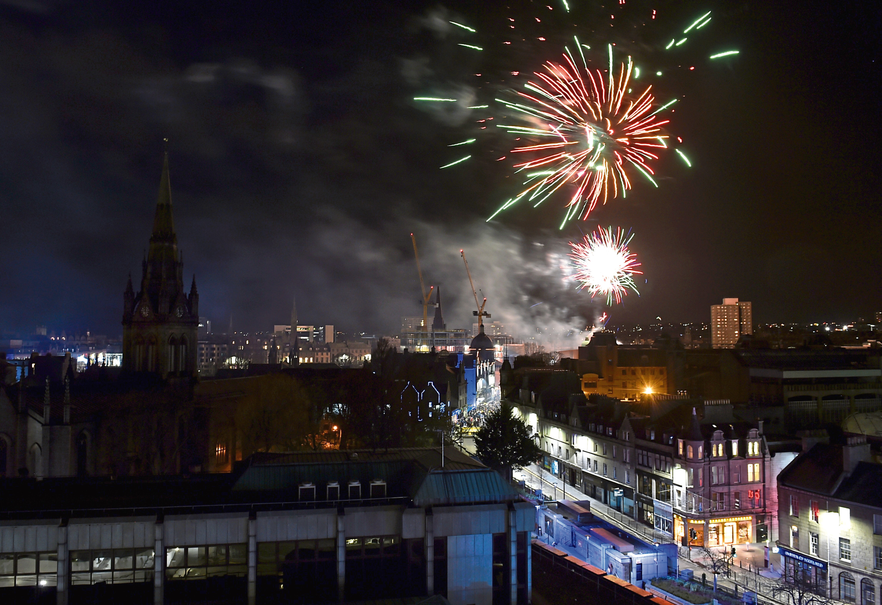 Hogmanay celebrations in Aberdeen last year