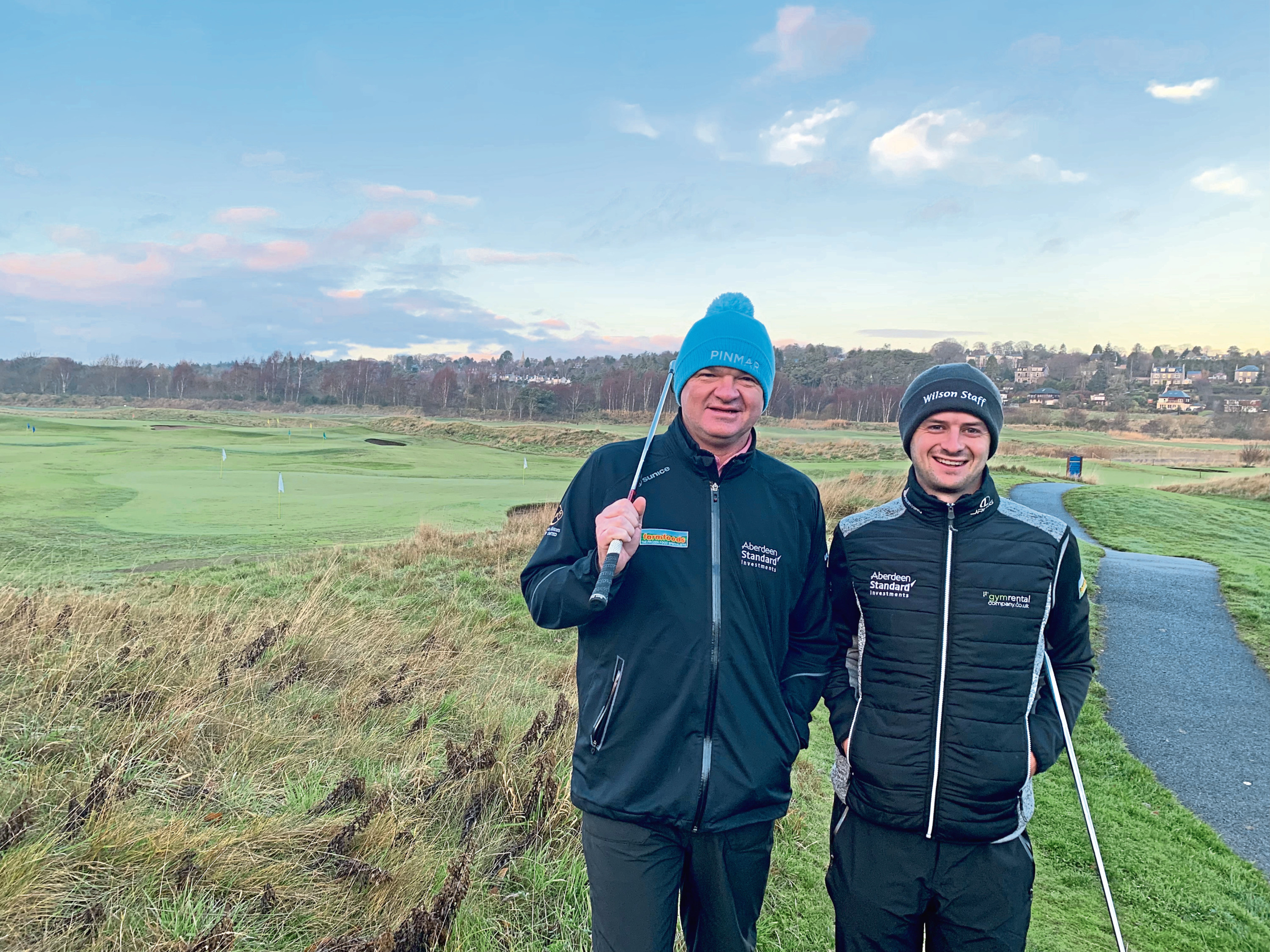 Paul Lawrie with Aberdeen protege David Law, now playing on the European Tour.