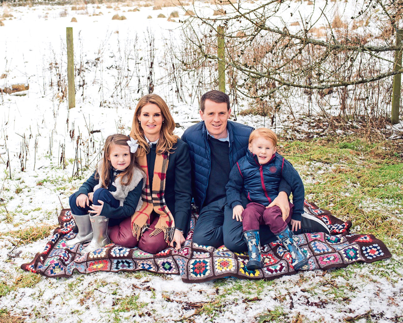 Faye and Nathan Whyte, pictured with children Georgiana and Jacobi, have put £15,000 towards research into Duchenne Muscular Dystrophy