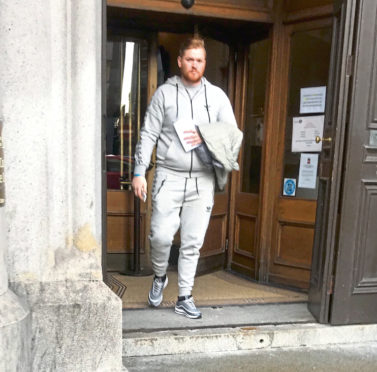 Ryan Crossby admitted dangerous driving as Aberdeen Sheriff Court was told he had driven at a group of people.