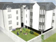 An artist's impression of the new Aberdeen development of 16 flats on Maberly Street