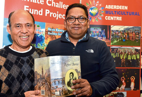 The Aberdeen Multicultural Centre, are to host a celebration of languages from around the world. Pictured are Dr Narayan Shrestha, project manager, left and Ahashan Habib, centre manager.