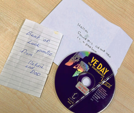 The CD and note was left in a post box 180 miles away from Aberdeen