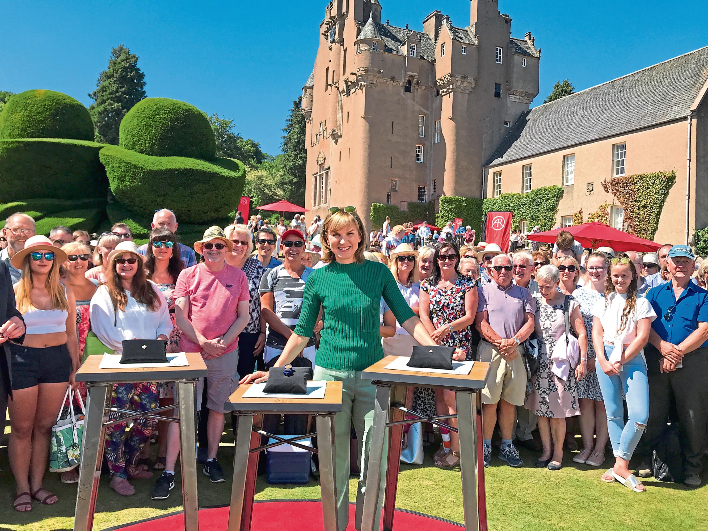 Fiona Bruce at Crathes Castle