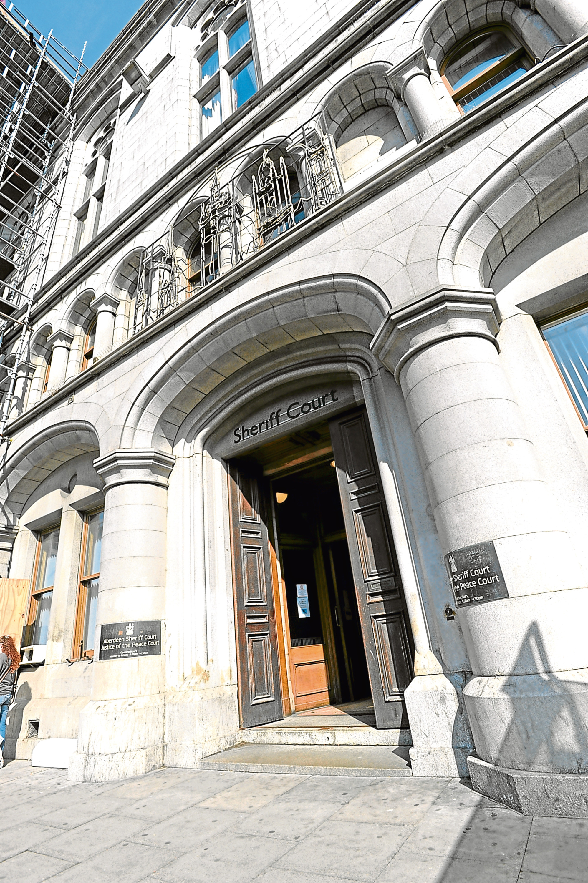 The case was heard at Aberdeen Sheriff Court