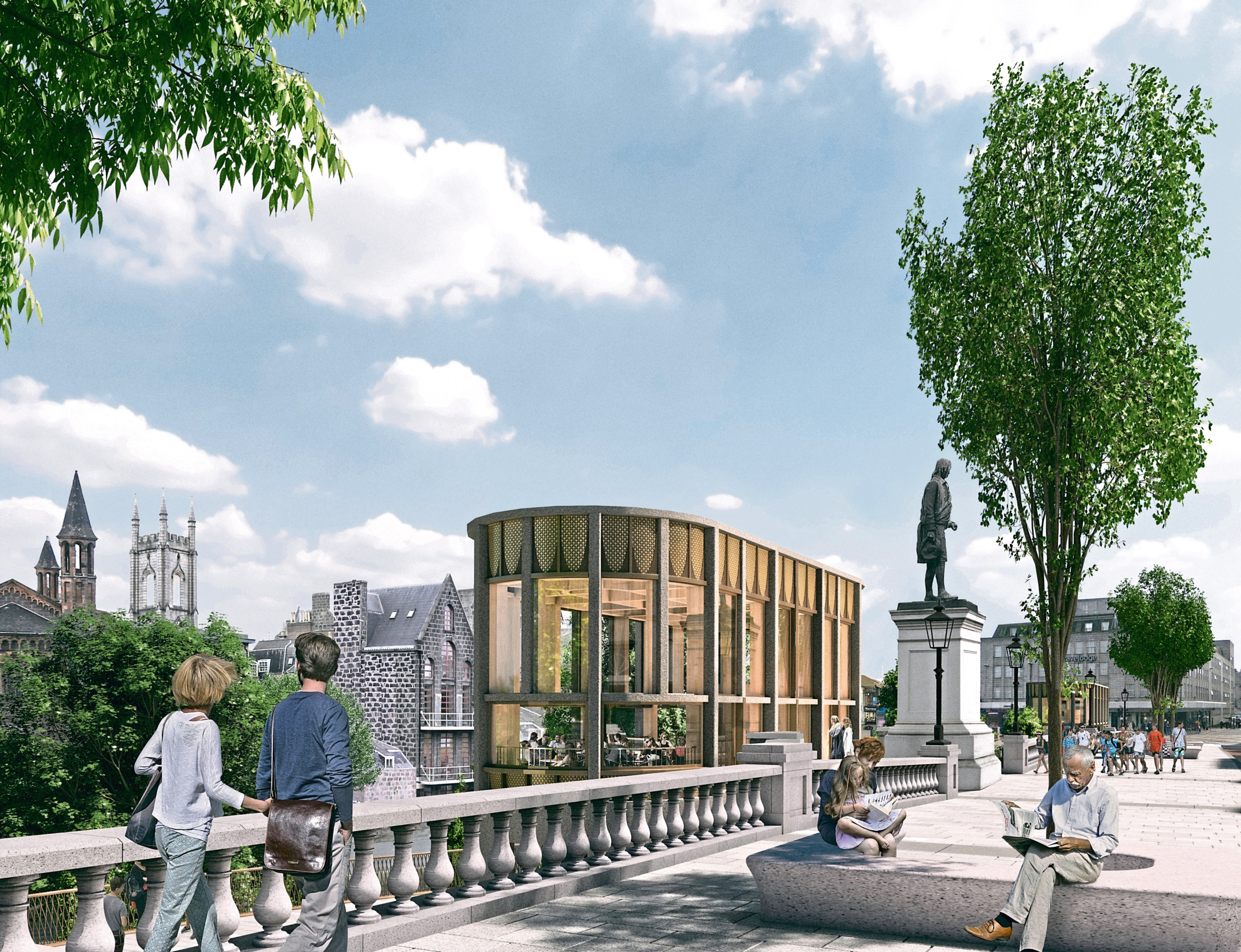 An artist's impression of how Union Terrace Gardens could look