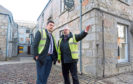 Government Minister for Business, Fair Work and Skills Jamie Hepburn, right and Angus MacSween the Mill General Manager