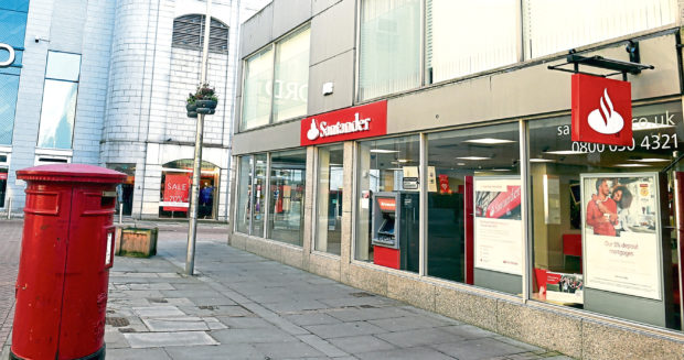 The Santander branch on George Street will be closing