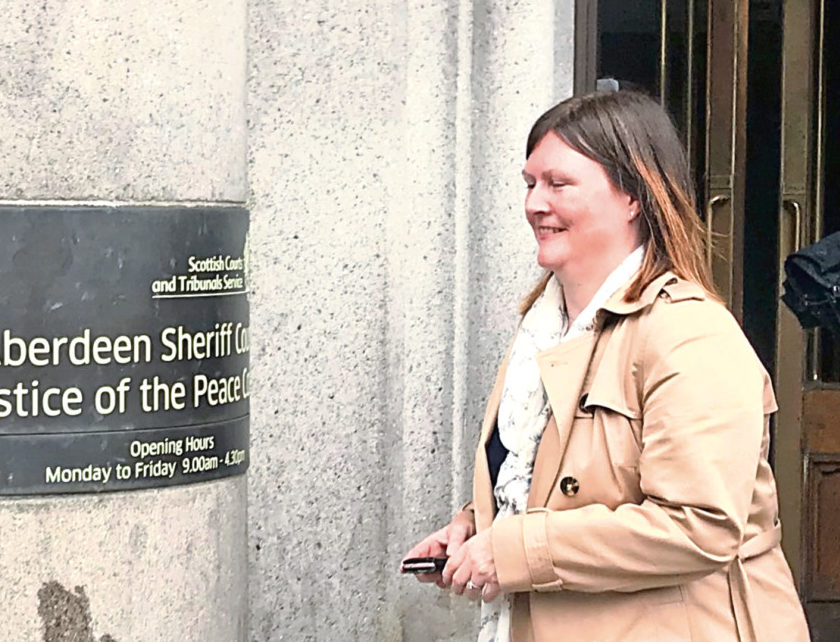 Jacqueline McKay, or Williams, appeared at Aberdeen Sheriff Court