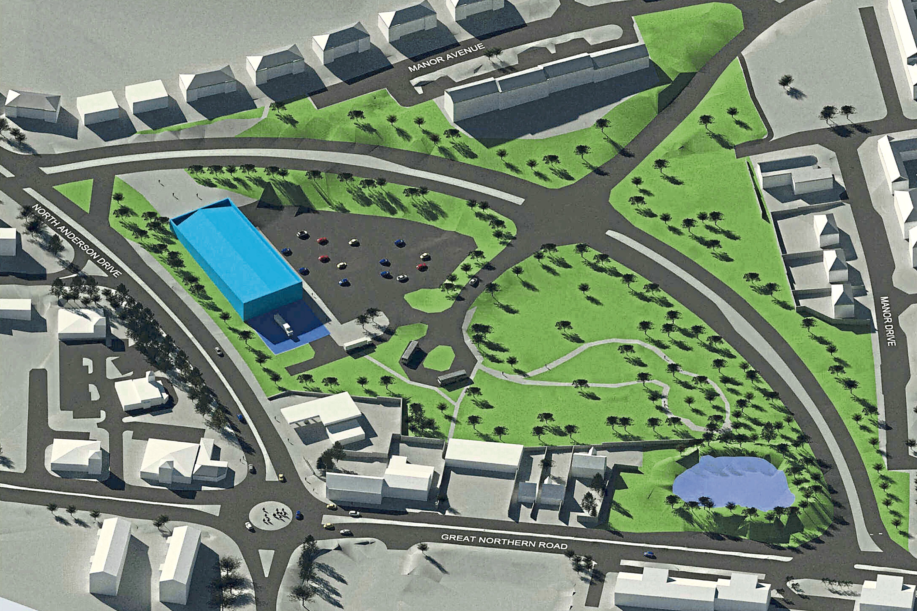 An artist's impression of the Middlefield triangle