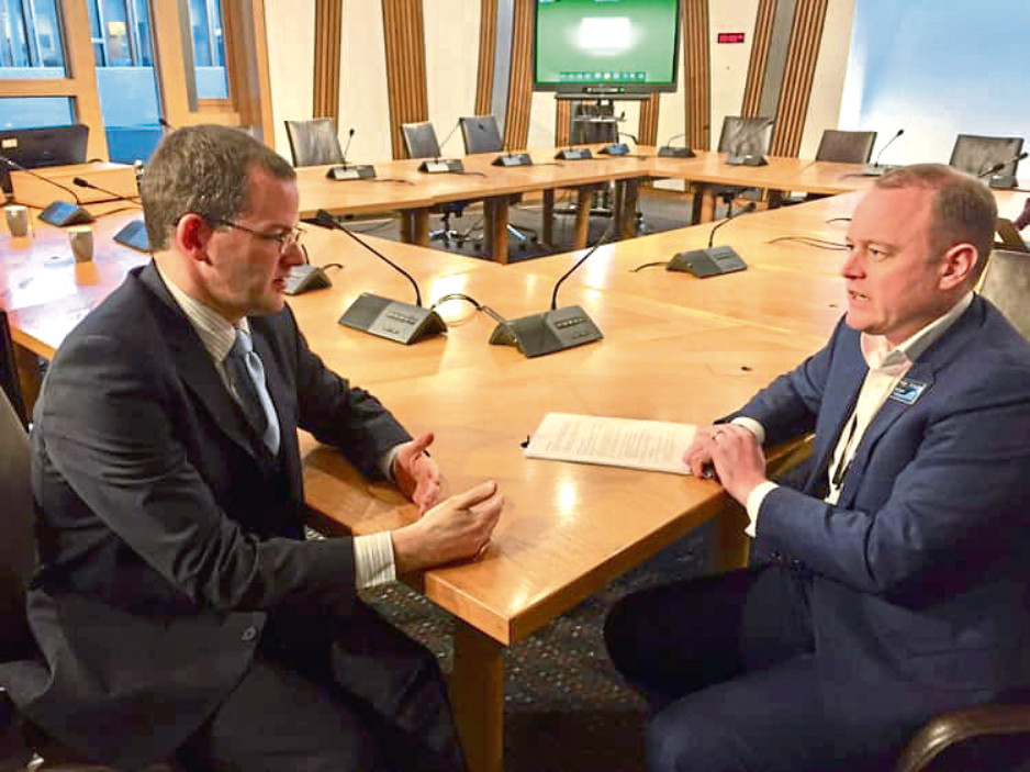 Mark McDonald and Alex Hynes, from ScotRail during their meeting