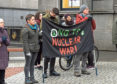 Aberdeen and District CND (campaign for nuclear disarmament) will be holding a Peace Rally this Saturday 26th January at 2 pm with speakers, music and poetry. The rally will be held in St Nicholas street in the public area near to Marks and Spencer in Aberdeen. 26/01/19 Picture by HEATHER FOWLIE