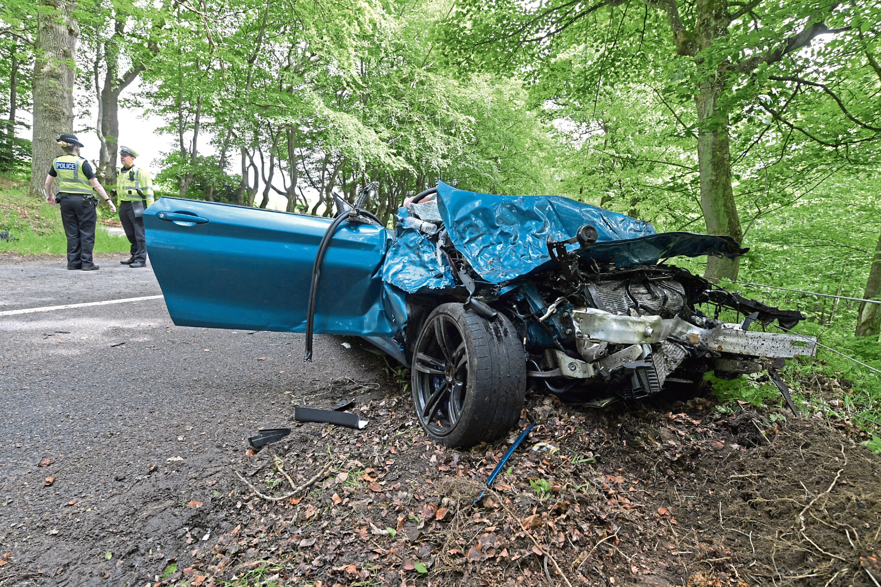 Corey McAlpine lost control of his BMW M2 on a series of bends