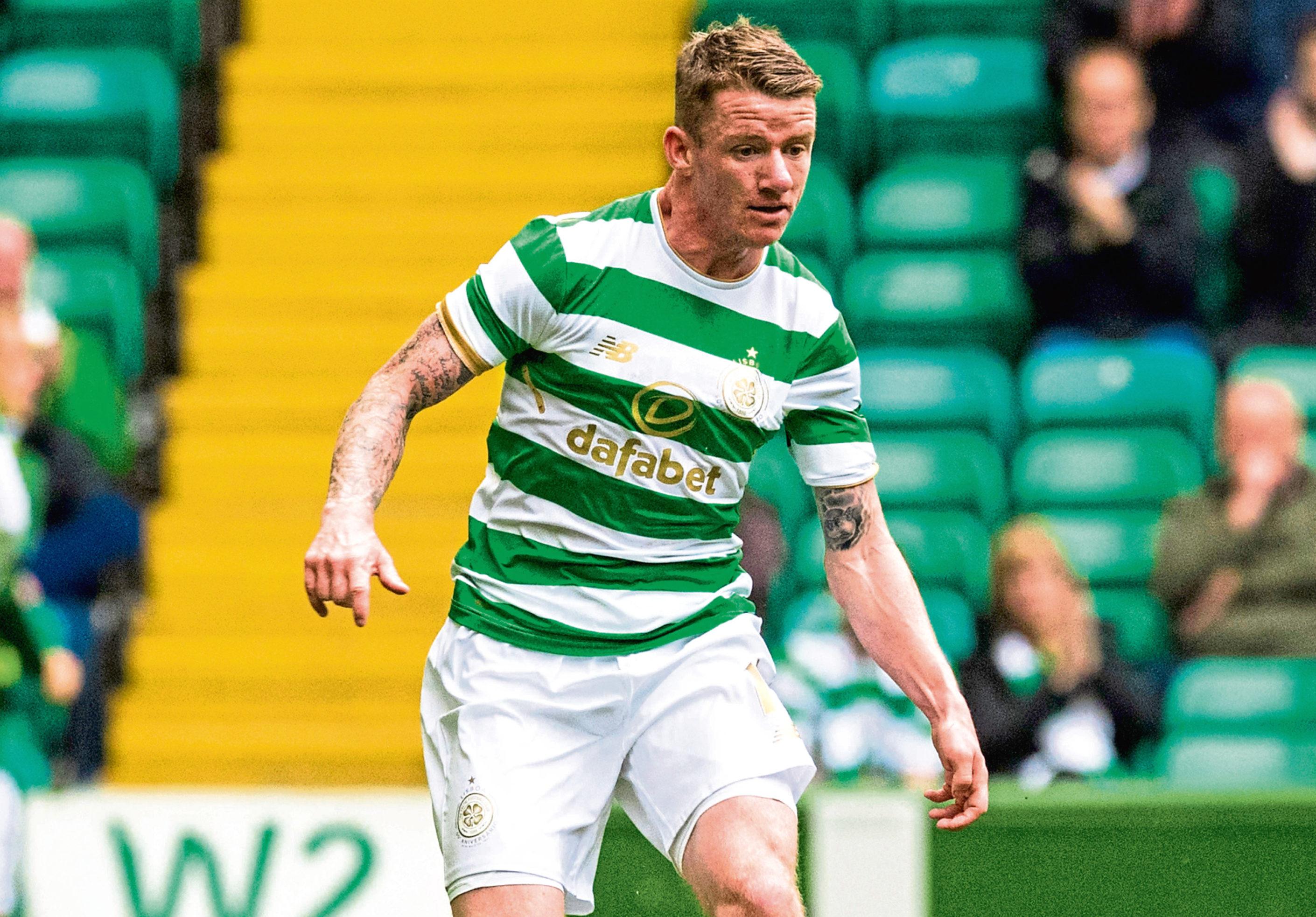 Jonny Hayes in action for Celtic.