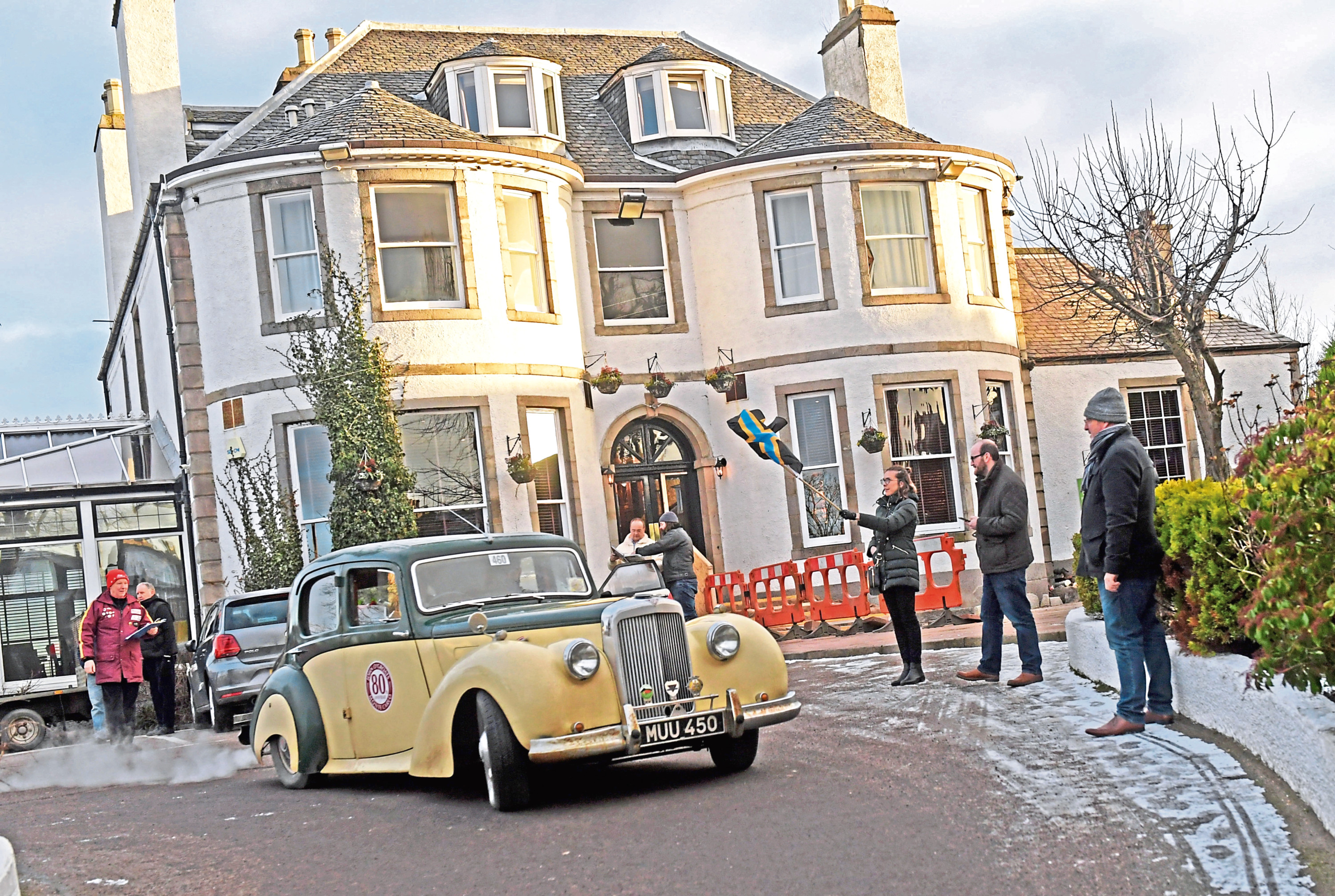 The cars left the Ferryhill Hotel earlier this morning