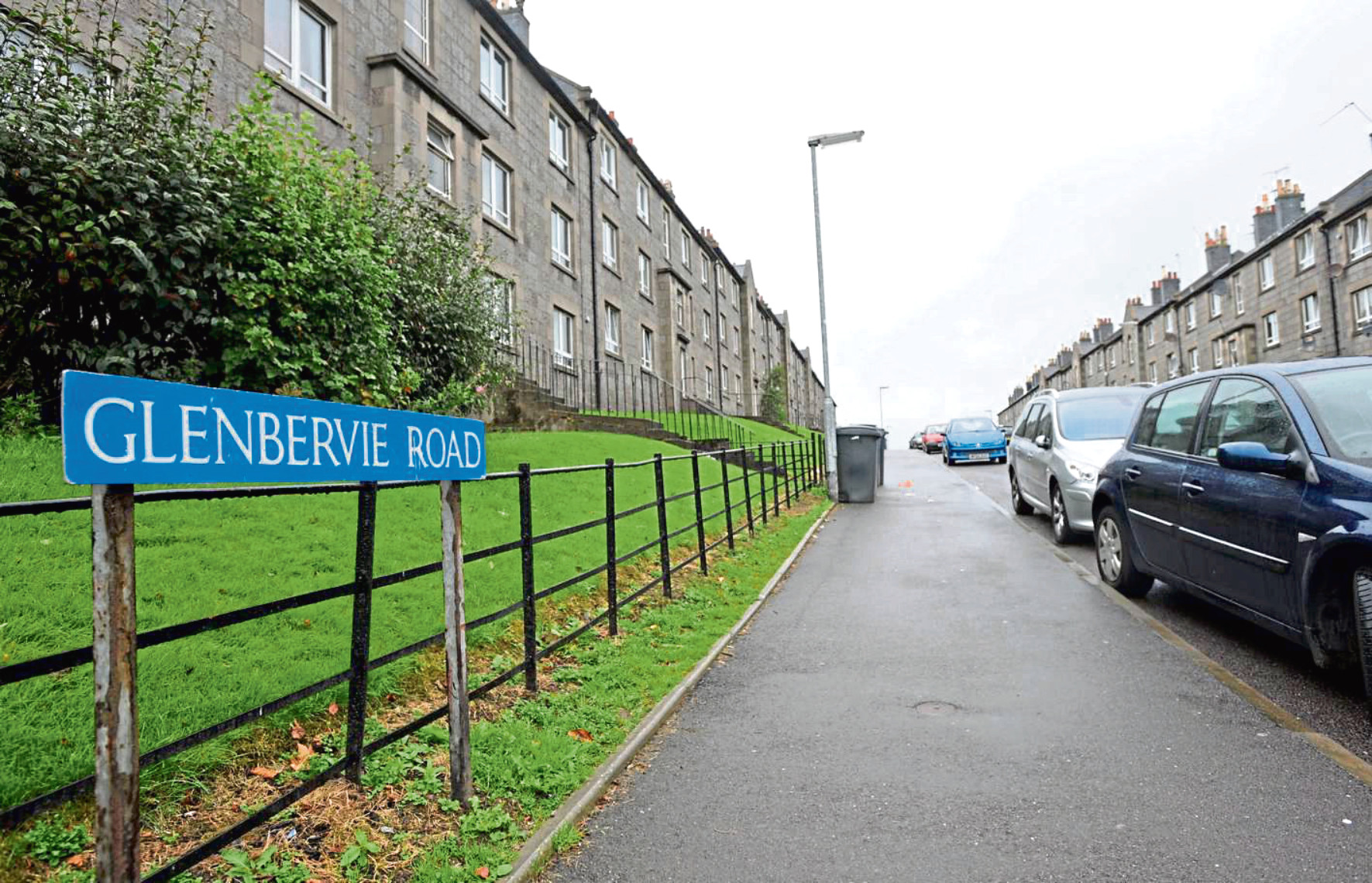 The incident took place on Glenbervie Road in Torry