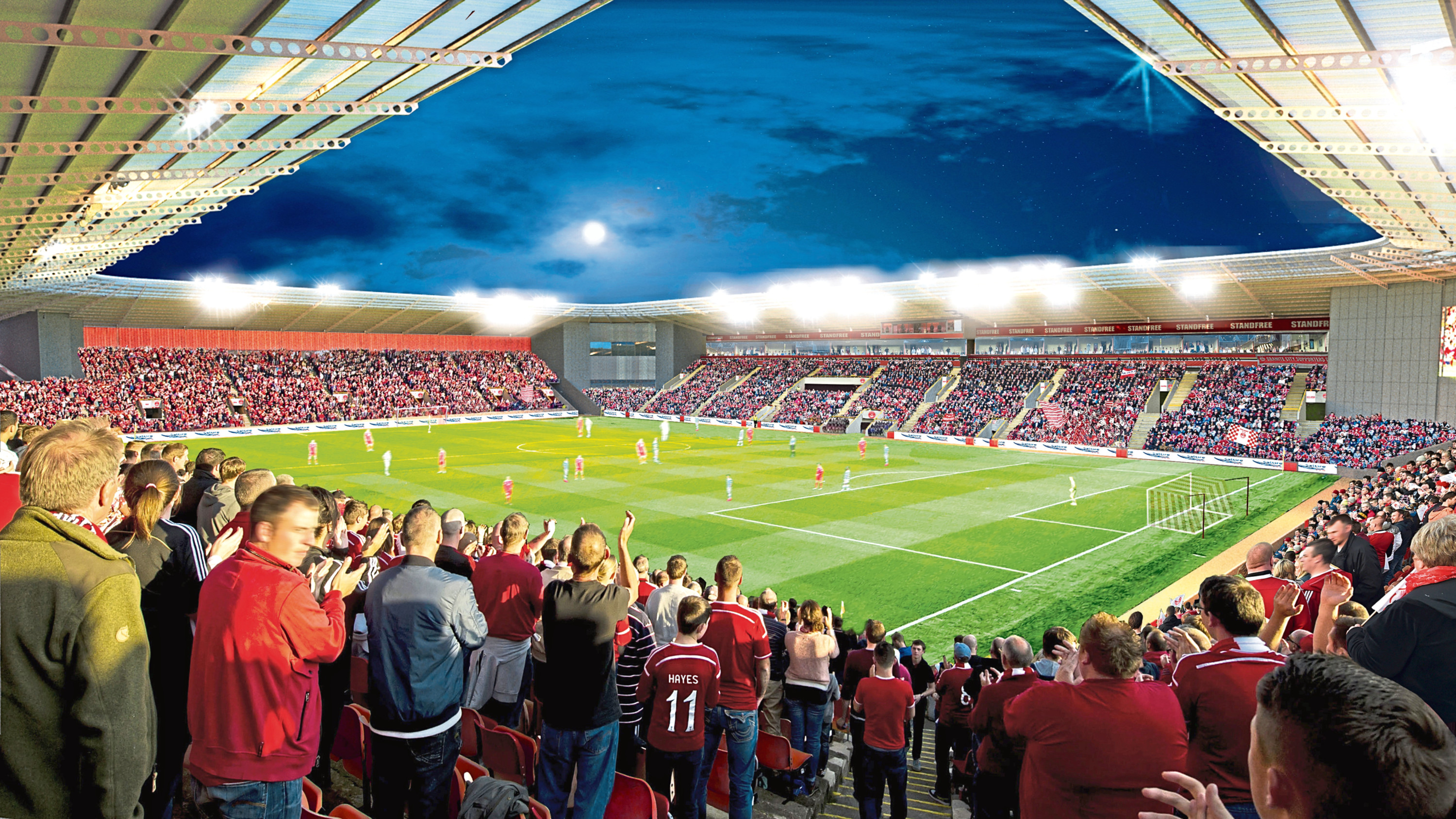 An artist impression of the Kingsford stadium