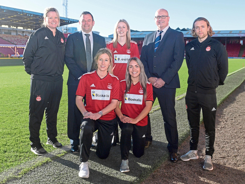 Aberdeen Women boss Emma Hunter, left.